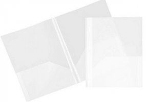 Plastic Folder with prong (Color WHITE)