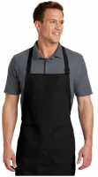 Apron with Pockets Full Length (Color BLACK)